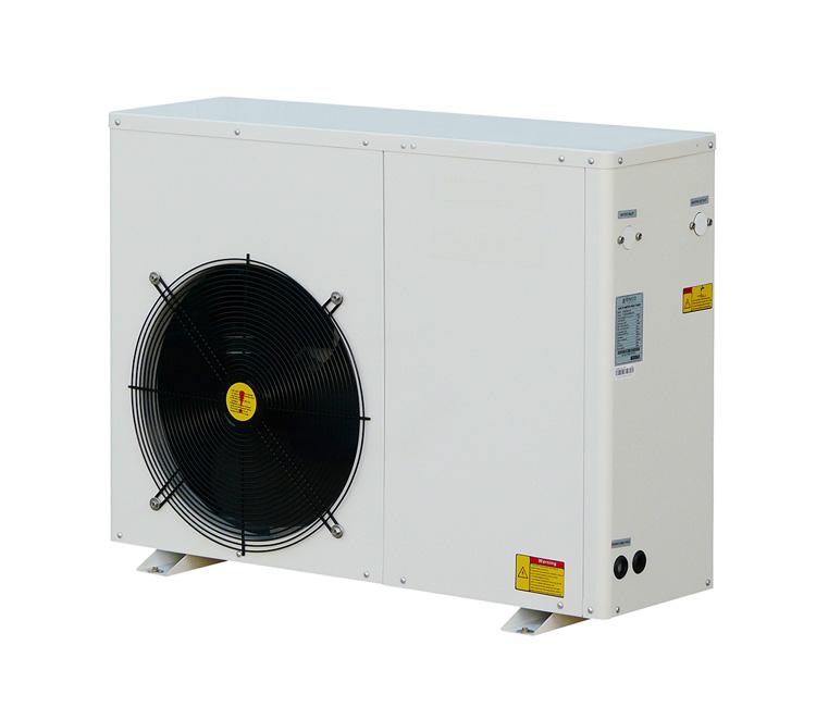 Domestic monobloc hot water heat pump