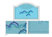 dolphin pattern mosaic tile/ swimming pool mosaic tile
