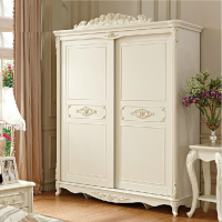 Franch style ivory white train door wardrobe YG602