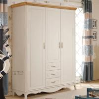 Mediterranean style white big wood wardrobe 903
