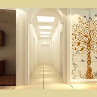 porcelain super white matt hallway tile MCZG