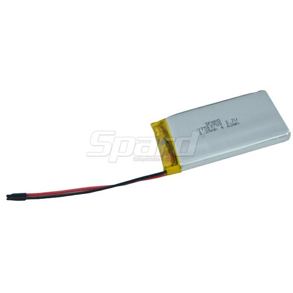 General Li-Polymer battery pack 3.7V 1250mAh YT503759