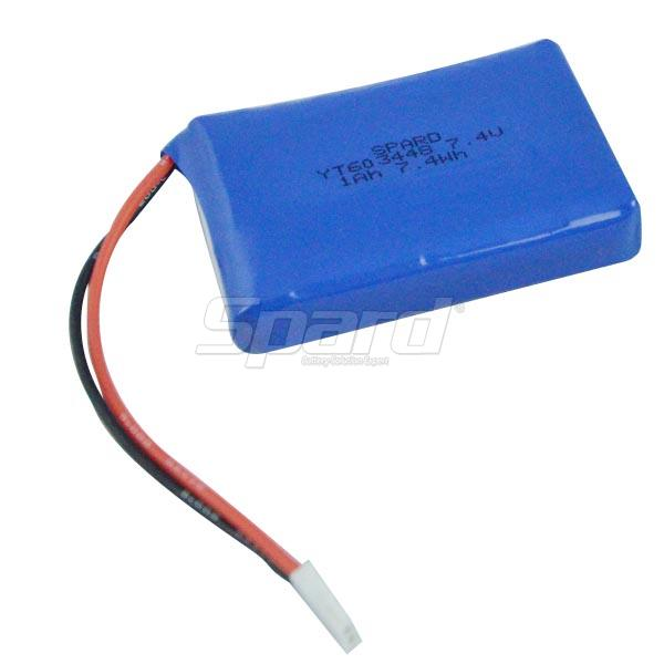 Lithium Polymer Battery 7.4V 1Ah YT603448