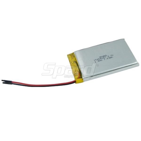 Lithium Polymer Battery 3.7V 1.9Ah YT654267