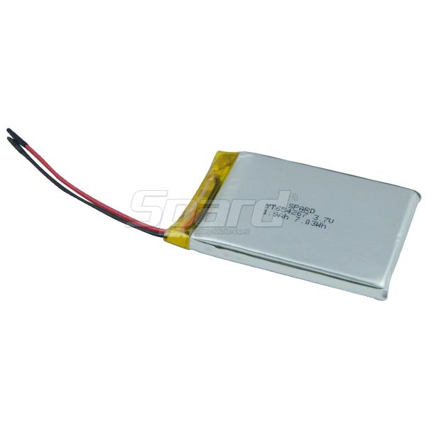 YT654267 3.7V 1.9Ah Lithium Polymer Battery