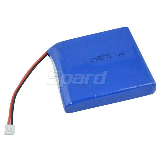 Lithium polymer battery pack YT807070 7.4V 4.2Ah