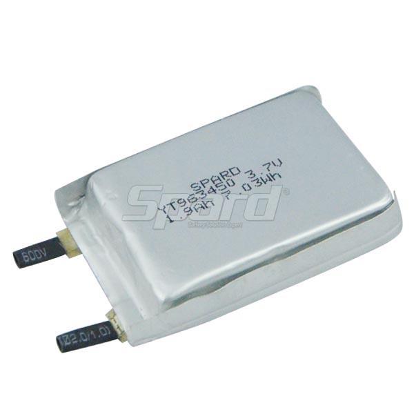 li-po battery 3.7V 1.9Ah YT963450
