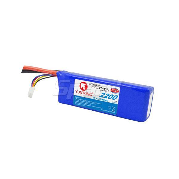 Li-polymer batteries packs RC airplane 3S 11.1V 2200mAh YT753496PH