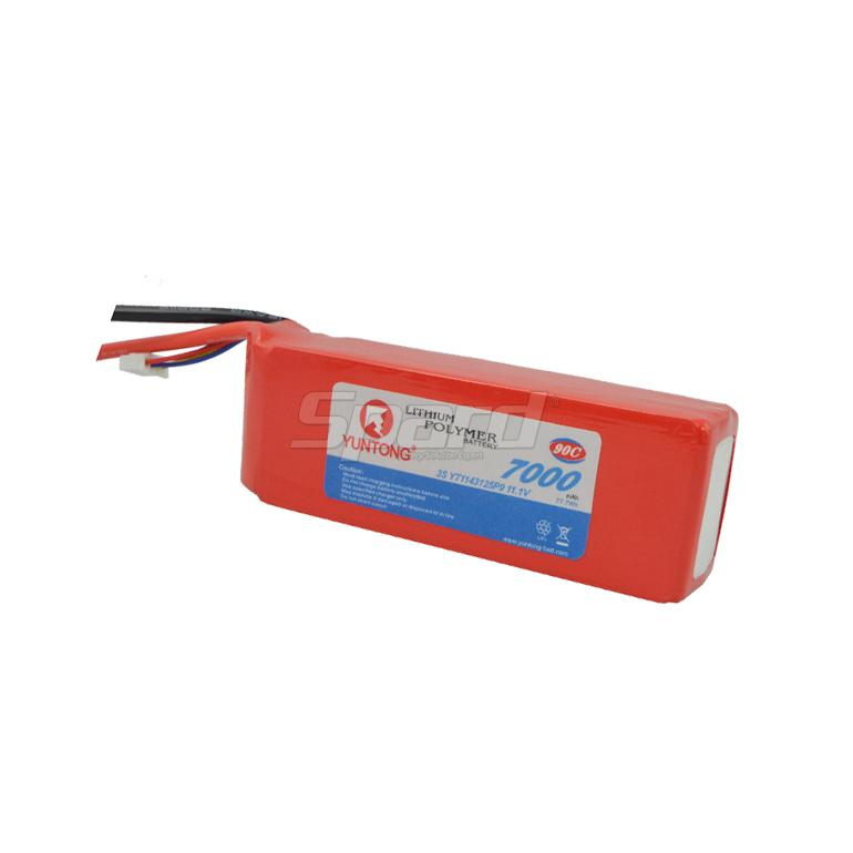 RC airplane li-polymer battery pack 3S 11.1V 7000mAh 90C YT1143125P9