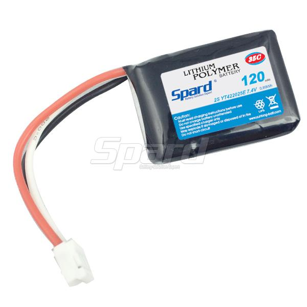 Rc battery pack lithium polymer battery 7.4V 120mAh 35C YT422025E