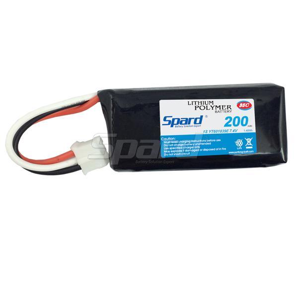 Rc battery pack  lithium polymer battery YT601839E 7.4V 200mAh 35C