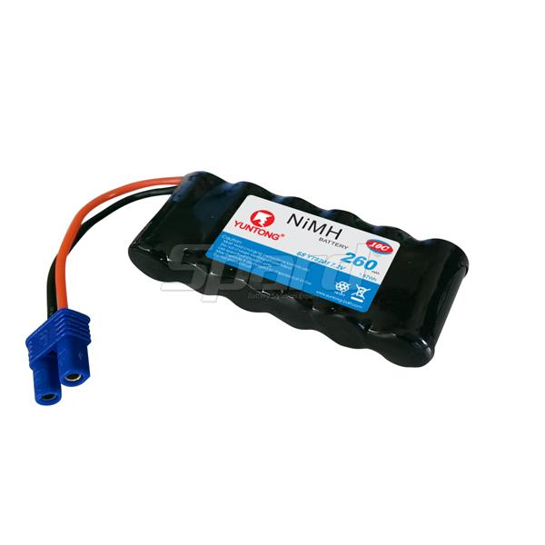 TRT RC boat battery pack Hi-Mh rechargeable 7.2V, 260mAh YT82001