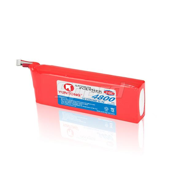 RC racing boat lithium polymer battery 3S 3.7V 11.1V 4800mAh 20C YT81302