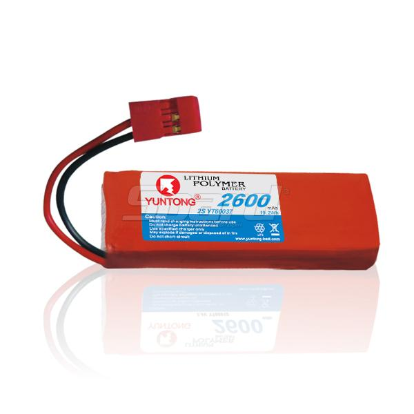 Transmitter and receiver lithium polymer battery pack 2S 7.4V 2600mAh YT60037