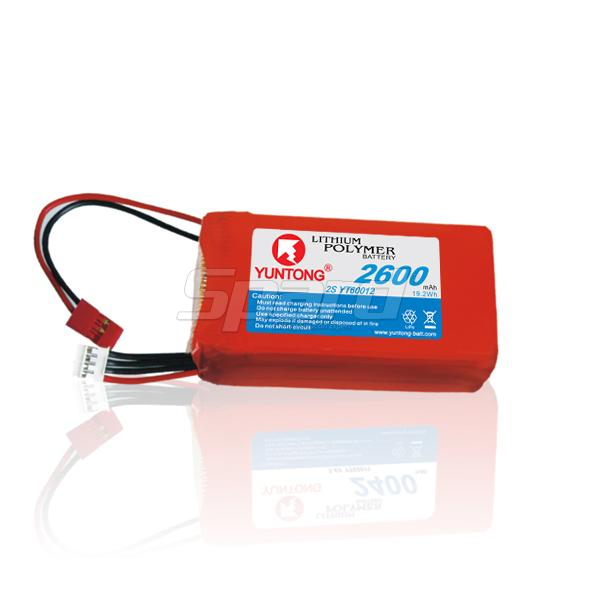 Transmitter and receiver lithium polymer batteries packs 7.4V 2600mAh YT60012