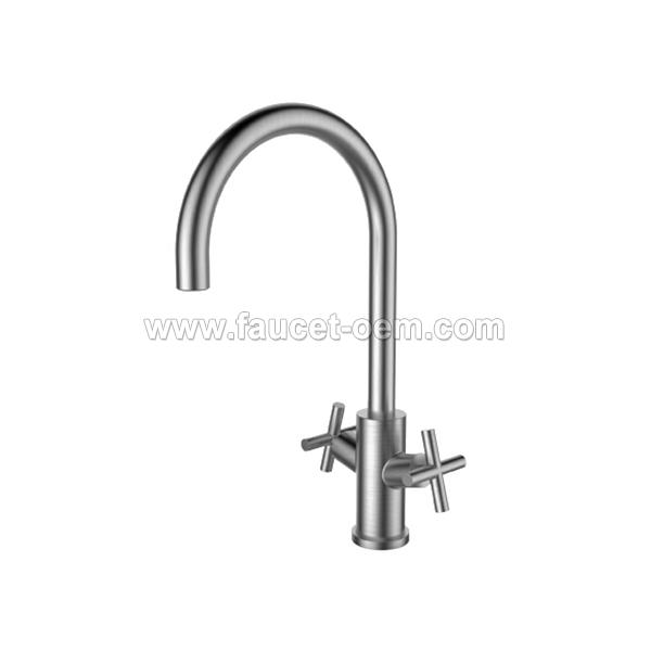 CT-04-001 Double-handle kitchen faucet