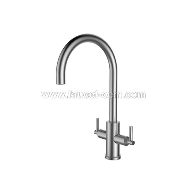 CT-04-002  Double-handle kitchen faucet