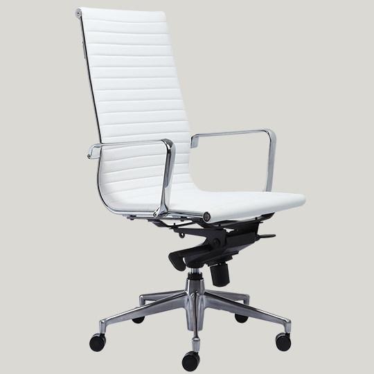 0517b 1hp5 white leather office chair