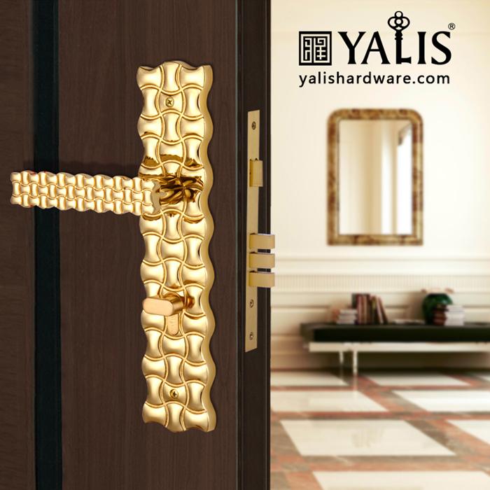 Yalis PAT102202 Bedroom Door Locks With Keys True Gold ...