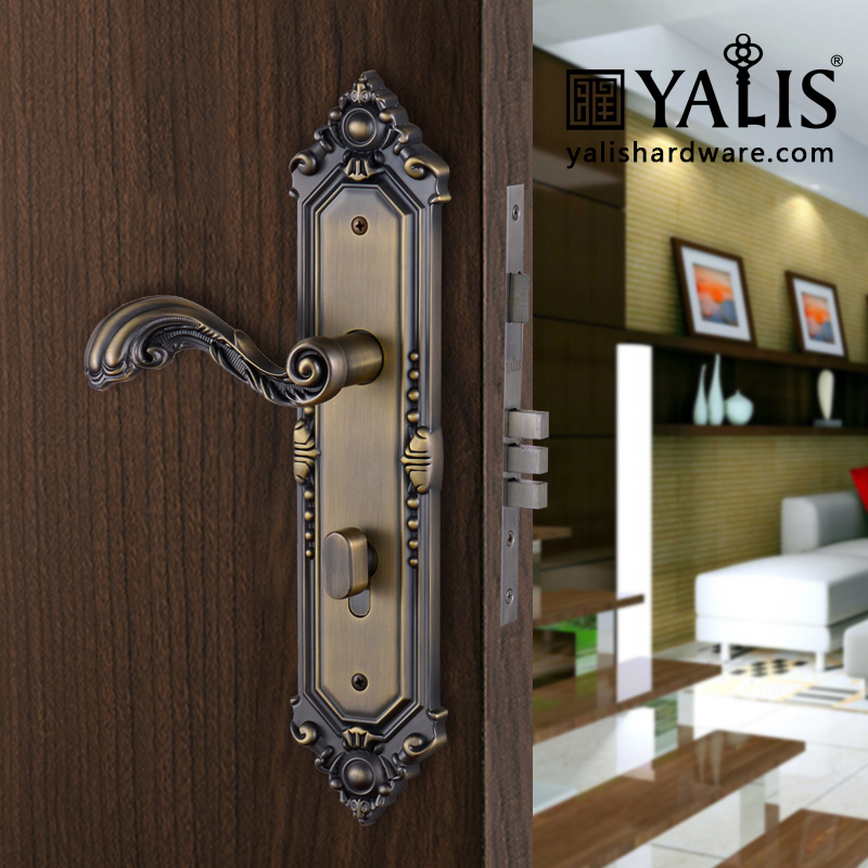 Antique Door Locks yalis t1068 hotel door locks with antique door handles for sale