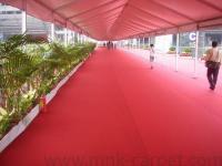 Protective foil exhibition carpet