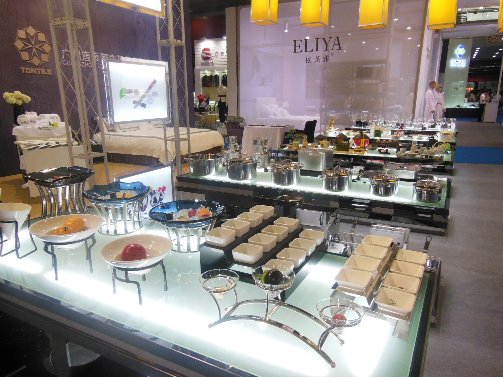 Guangzhou pazhou exhibition-Tontile Buffet products