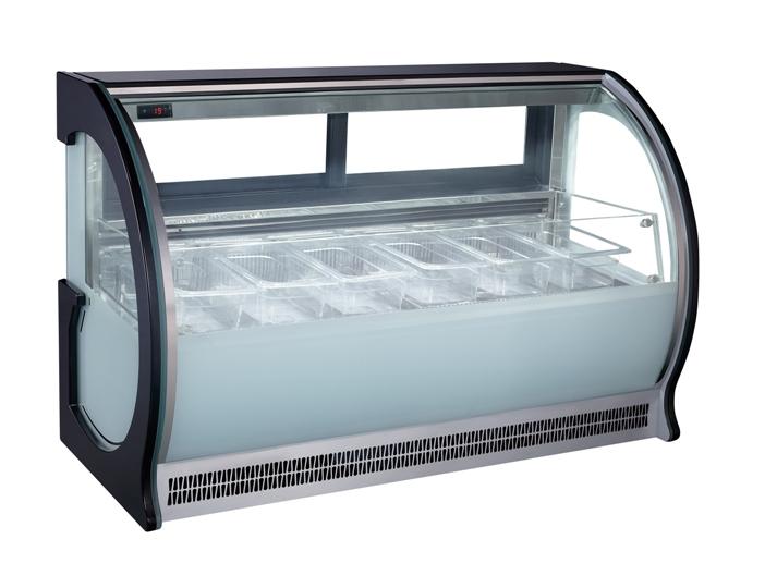 counter top ice cream display case