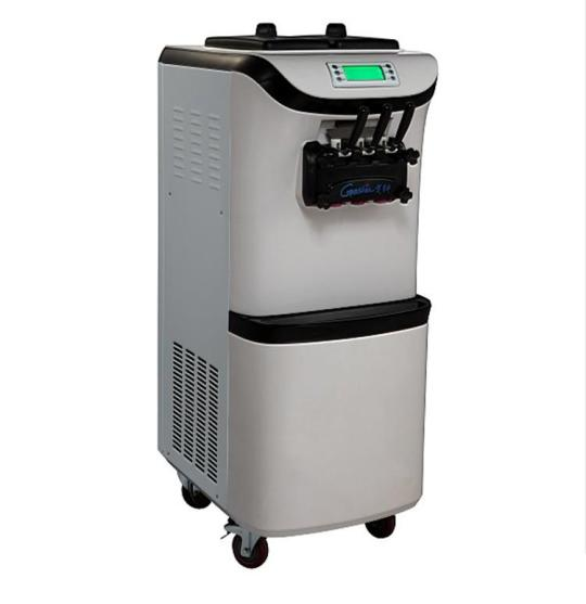 Soft ice cream machine Two hopper with stainless steel beater