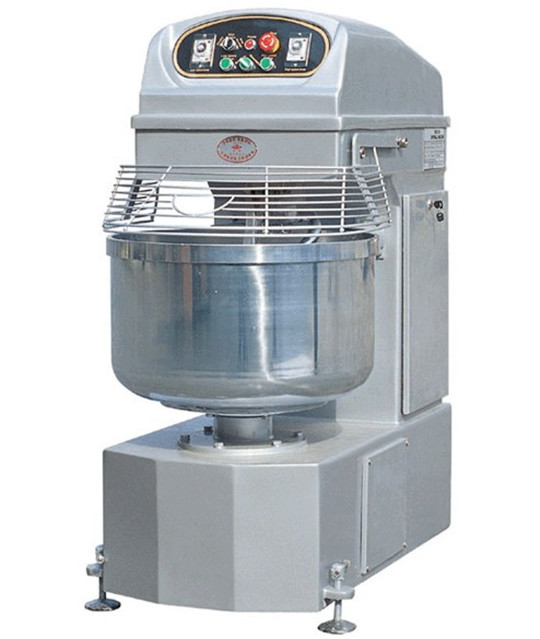 Double Speed Dough Mixer Commercial spiral dough mixer with cover/CE approval/bakery equipment