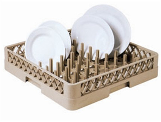 64-Columns Glass Rack Open Plate and Tray Rack For Restaurant Bar Supplies 25-Compartment Dropped Extender