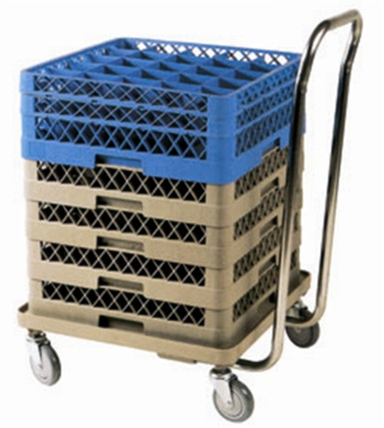 S/S, PP/Beige Rack dolly with handle restaurant use basket rack trolley