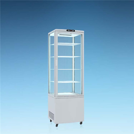 Beverage Showcase Display Drink Cooler Cooling Unit with internal top lighting, ventilated cooling