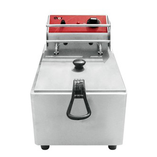 Singles and Double Tank Electric Fryer Commercial Stainless Steel Desktop Type