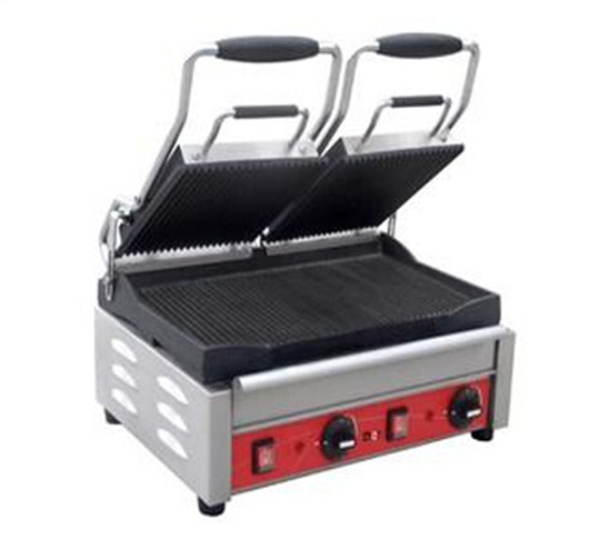 Plane or wavy surface contact grill baking sheet Stainless steel Panini/contact grill for hotel Electric griddles