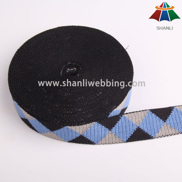 1.5 Inch Polyester Cotton Jacquard Webbing for Garment Accessories