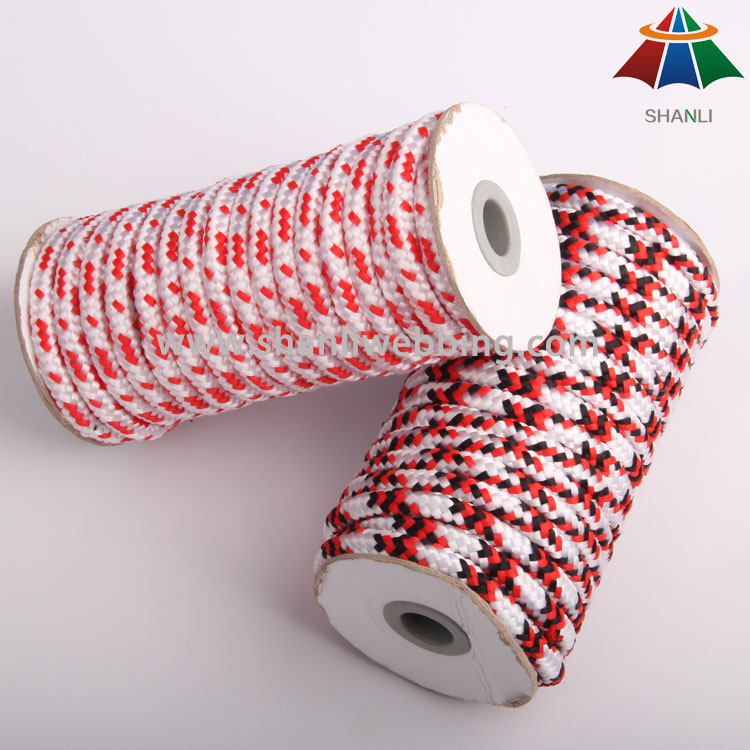 100% Polypropylene (PP) Striped Rope