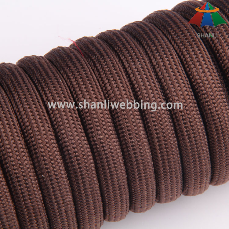 12mm Brown Braided Nylon Rope