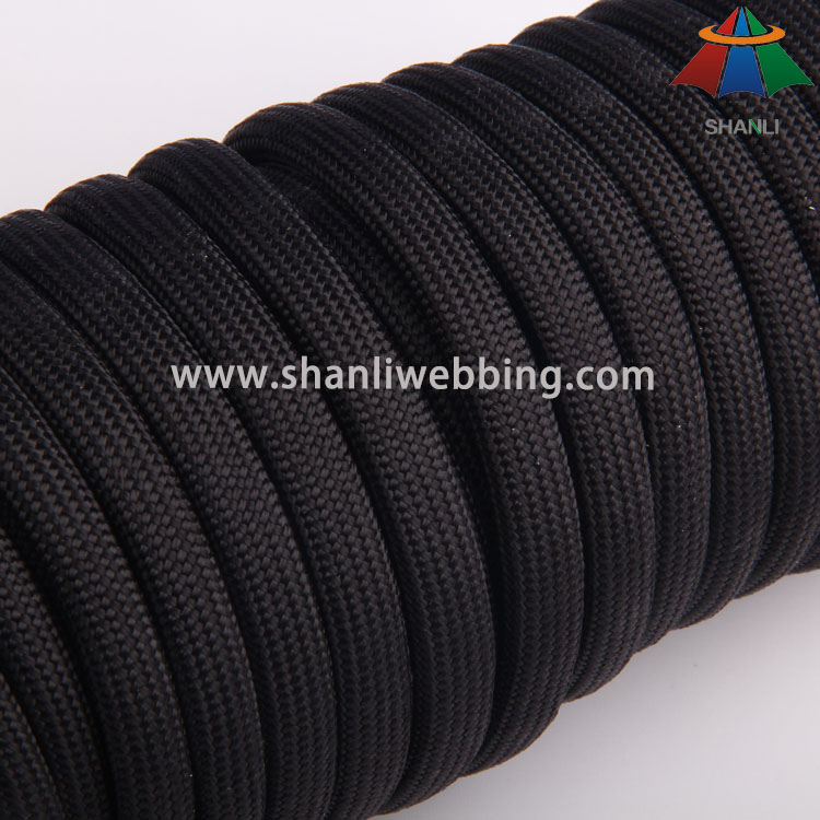 8mm Black Nylon Rope Cord