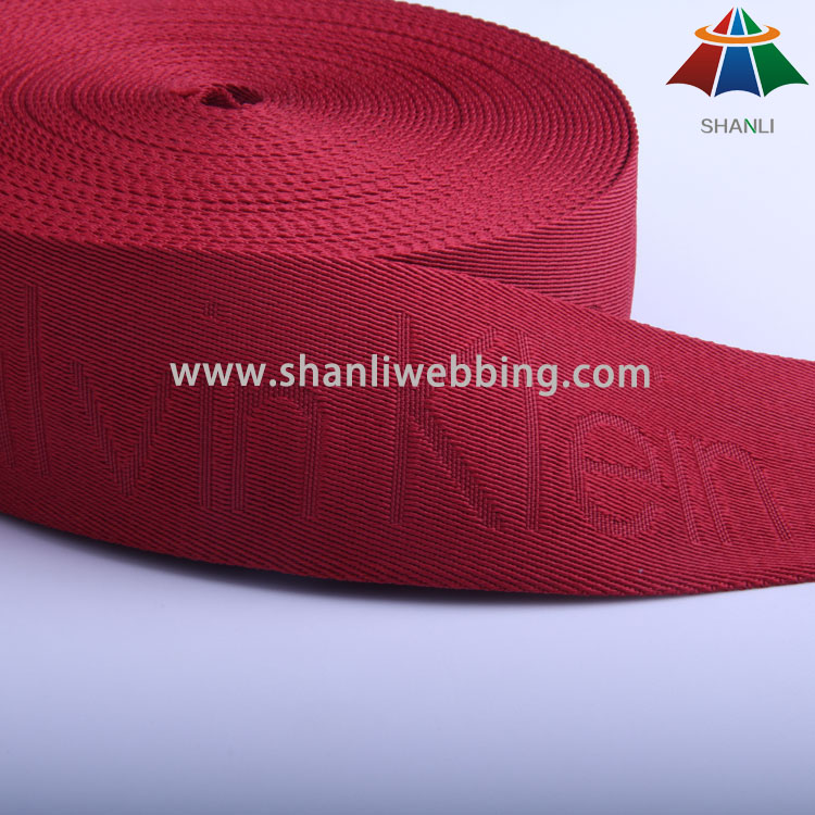 Red Polyester Jacquard Webbing