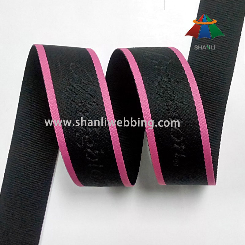 Striped Jacquard Polyester Webbing