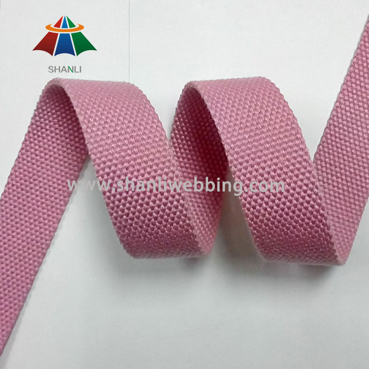 1 inch Pink Polyester Cotton Webbing