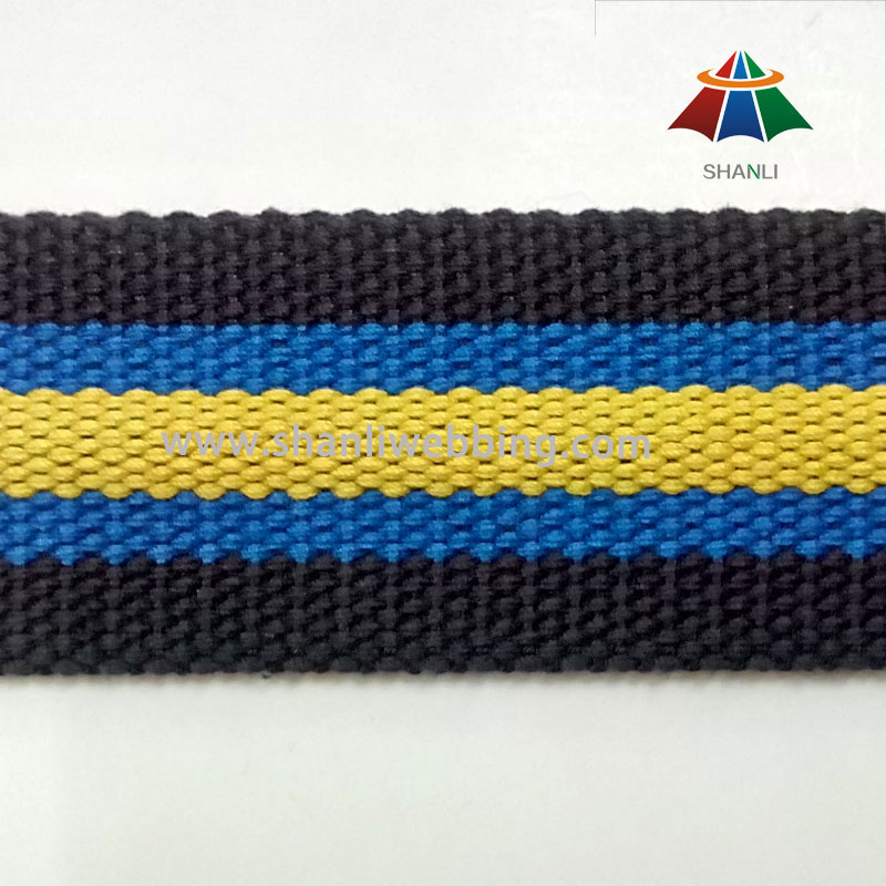40mm Polyester-Baumwolle Striped Gurtband
