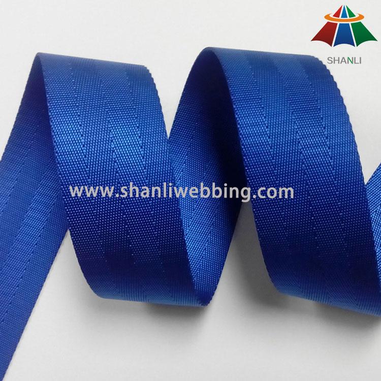 1.5 Inch Blue Seat Belt Webbing
