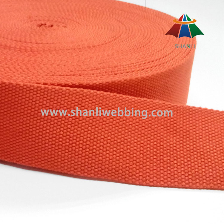 5cm Orange Polyester Cotton Webbing