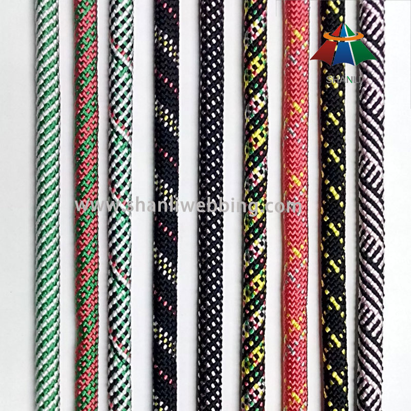 14mm Colorful Striped Braided Nylon Rope
