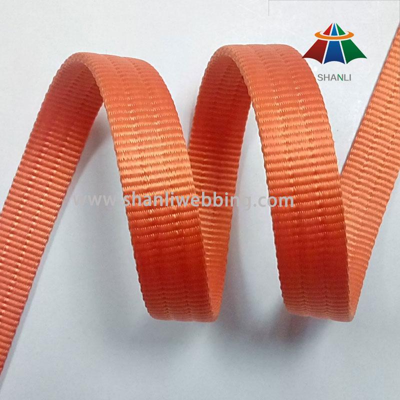 20mm Orange Grooved Heavyweight Nylon Webbing
