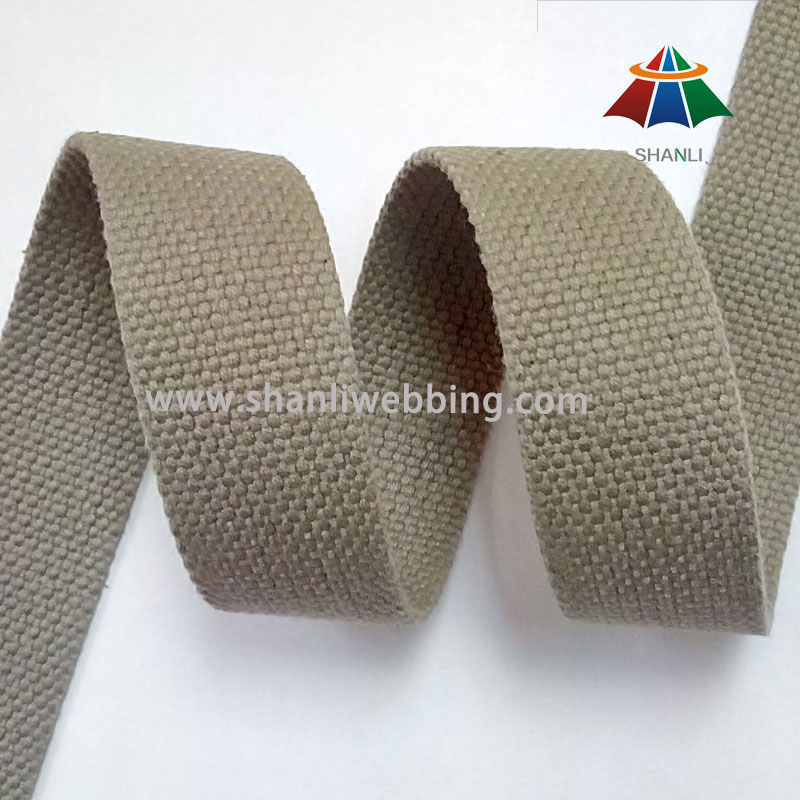 27mm Army Green Flat Cotton Belt Webbing