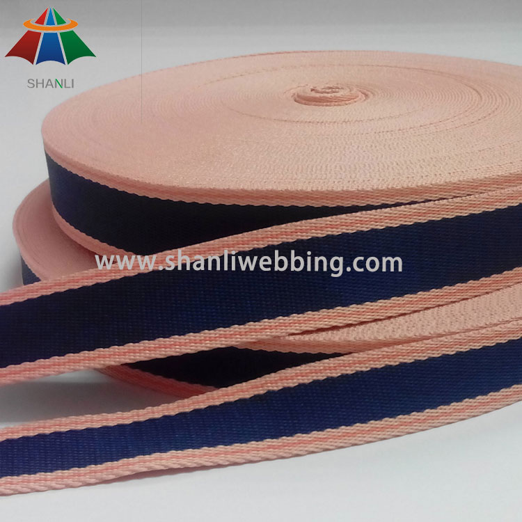 Mixed Color Striped Polyester Webbing
