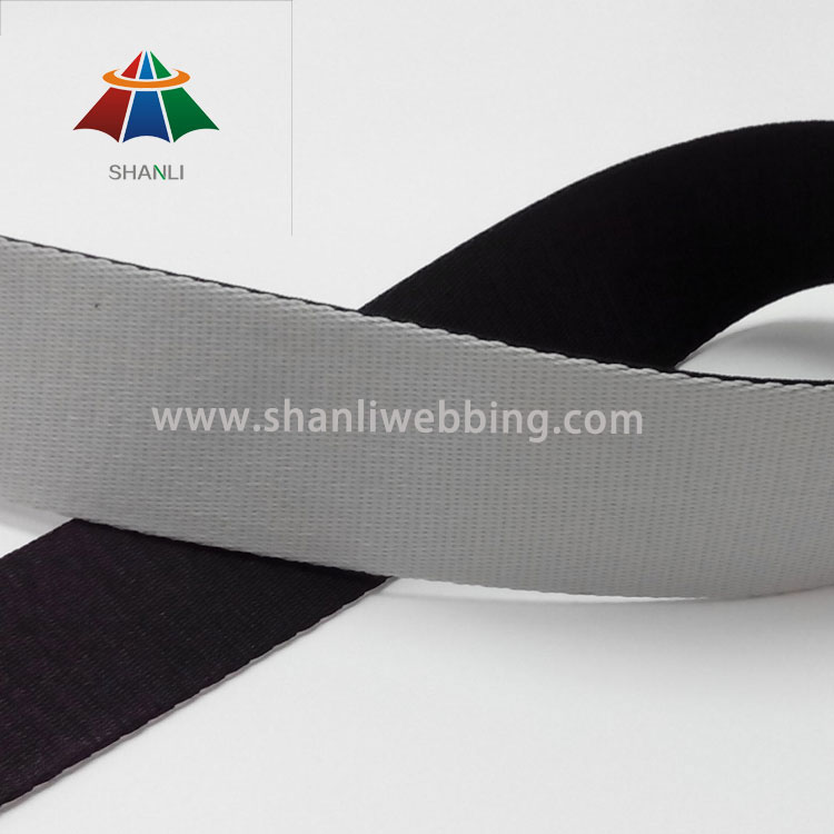 2 Inch Black and White Polyester Webbing