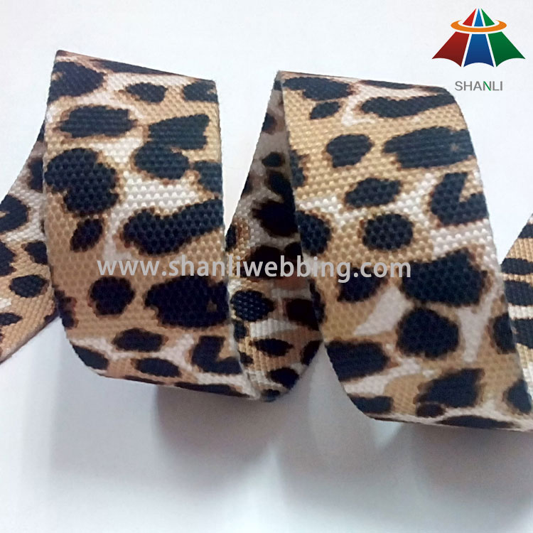 35mm Leopard Printed Polyester Webbing